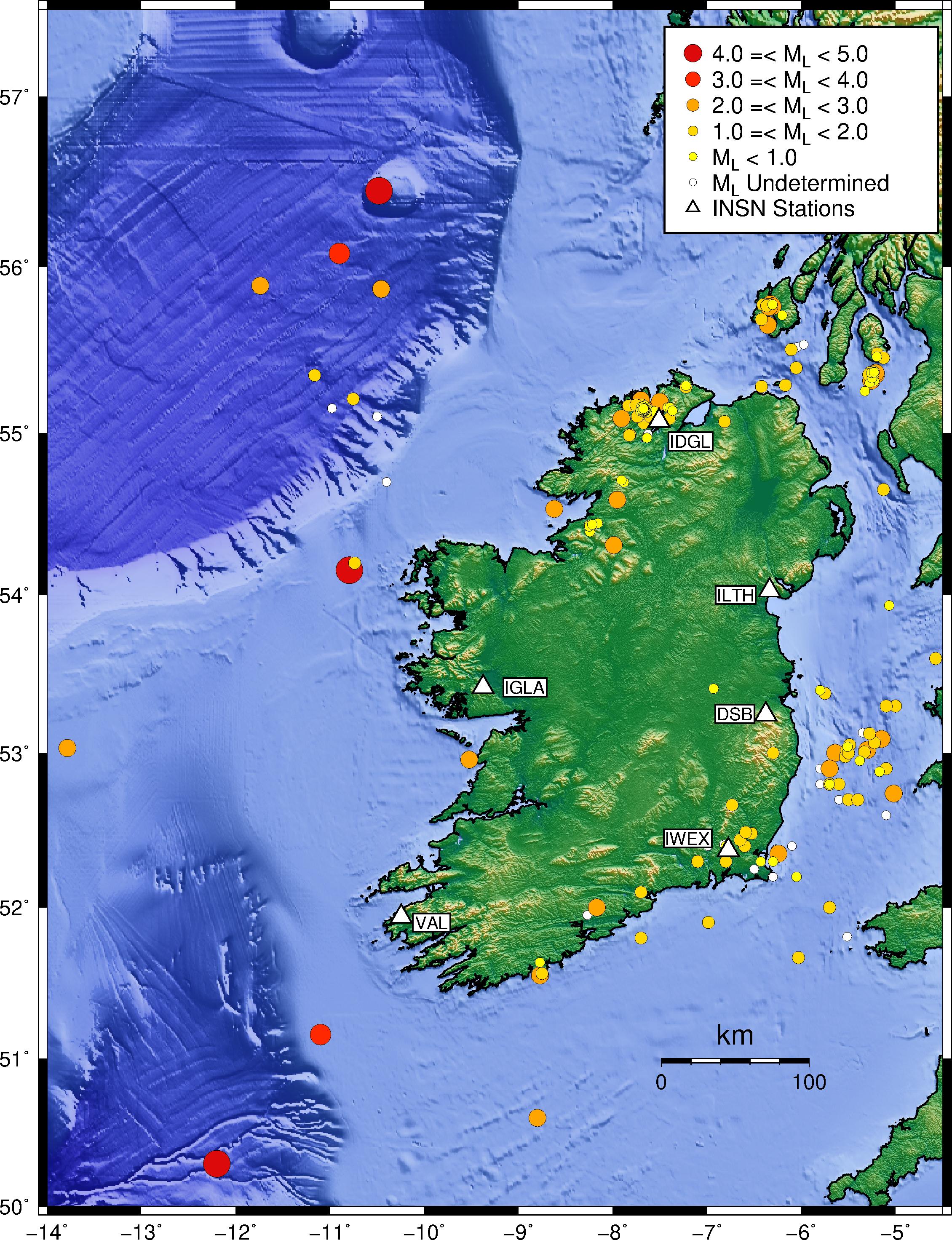Irish National Seismic Network (INSN)